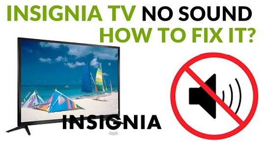 no sound on insignia tv with hdmi